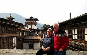 Csilla and Olle in Trongsa dzong