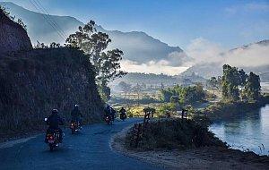 Motorbikes in Punakha