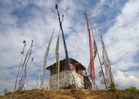 The stupa at Goempa in Tsirang Toe