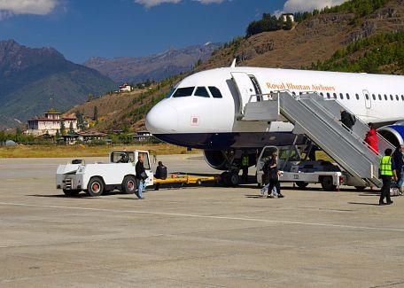 Drukair's Airbus in Paro