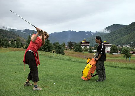 Golf in Thimphu