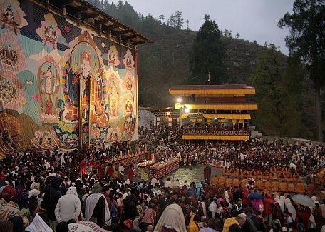 Thongdrel ceremony at Paro Tshechu