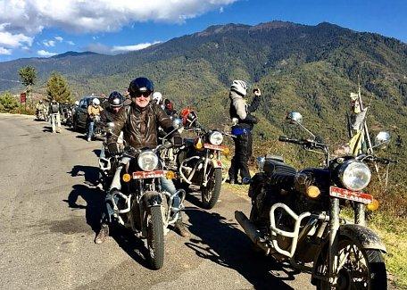 Motorbiking in Bhutan